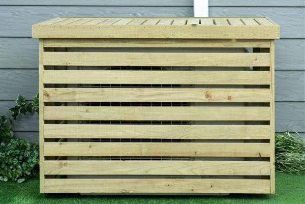 CACHE CLIMATISATION - CAGE DE PROTECTION UNITÉ EXTÉRIEURE EN BOIS - 950X500X720 - ALIXO