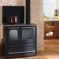 CUISINIERE A BOIS TRADITION ANTHRACITE   AVEC FOUR 9 KW