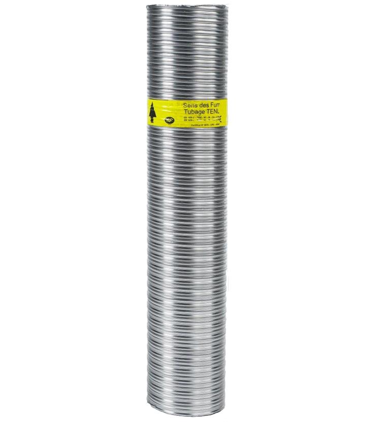 LE MÈTRE TUBAGE FLEXIBLE DOUBLE INOX-INTÉRIEUR LISSE 100/106 - zoom