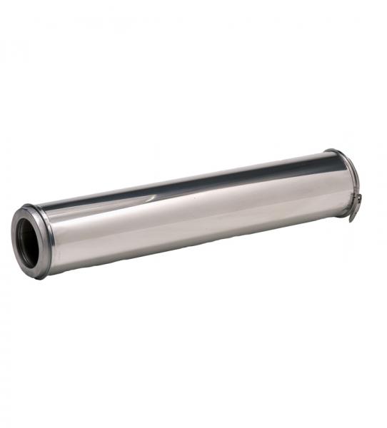 LONGUEUR INOX  ISOLEE 1M 80/130  INT 316 EXT 304+BRIDE