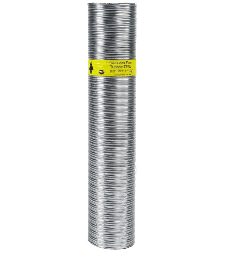 TUYAU FLEXIBLE DOUBLE TUBAGE  INOX-INTÉRIEUR LISSE Ø155/161 TENLISS - zoom